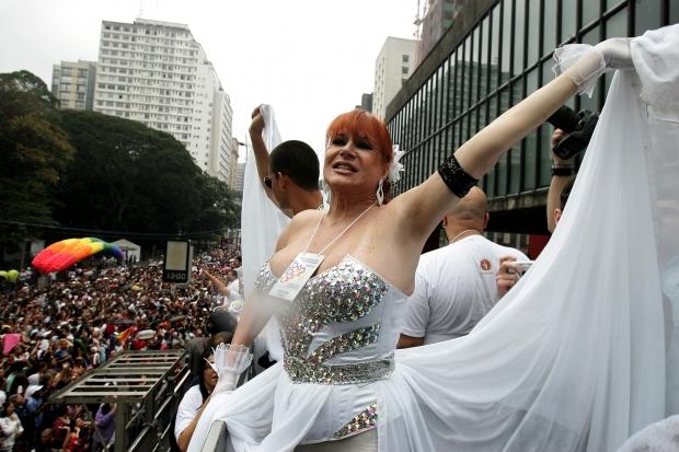 A drag queen Nanny People na 15ª edição do evento, em 2011